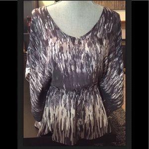 Express purple dolman sleeve shirt sleeve slits M